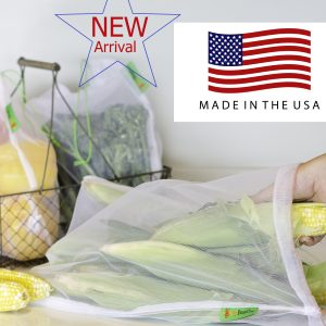 Made in USA reusable produce bags